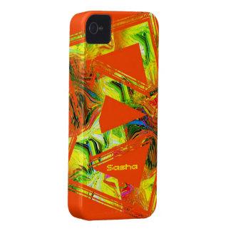 Sasha's iphone 4 orange and yellow case