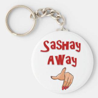 Sashay lejos llavero redondo tipo pin
