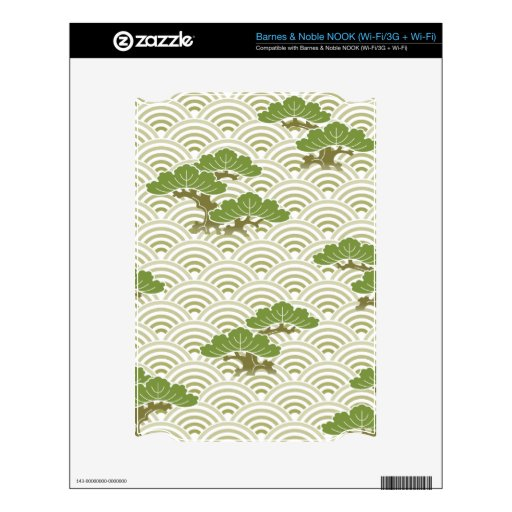 Sashiko Pattern NOOK Decal