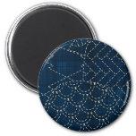 Sashiko-style embroidery imitation refrigerator magnet