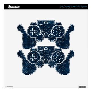Sashiko-style embroidery imitation PS3 controller decals
