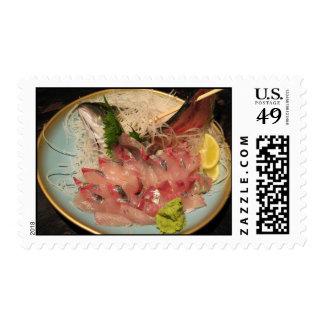 Sashimi 刺身 ... Japanese Food Postage Stamp