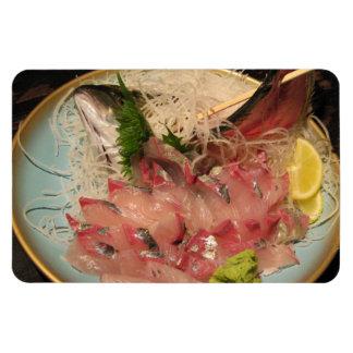 Sashimi 刺身 / Japanese Food Rectangular Photo Magnet