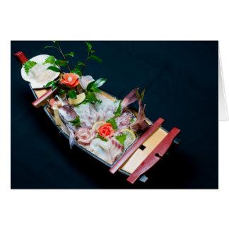 Sashimi Boat. Cards