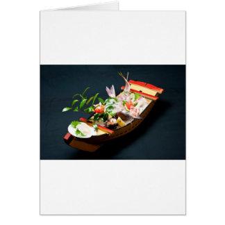 Sashimi Boat. Greeting Card