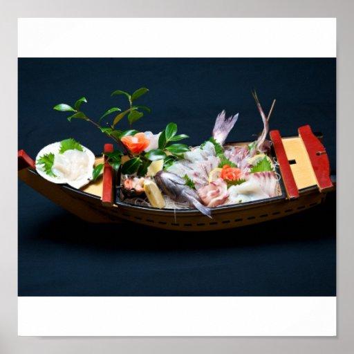 Sashimi Boat. Print
