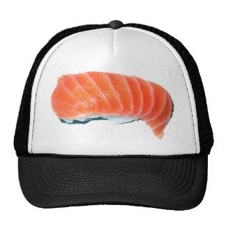 Sashimi de color salmón gorro de camionero