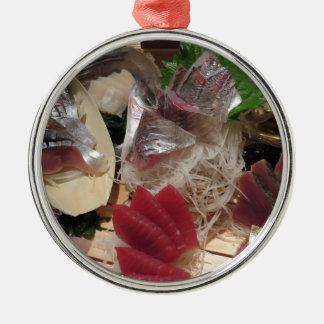 Sashimi Foods Izakaya Cuisine Meal Plate Platter Metal Ornament