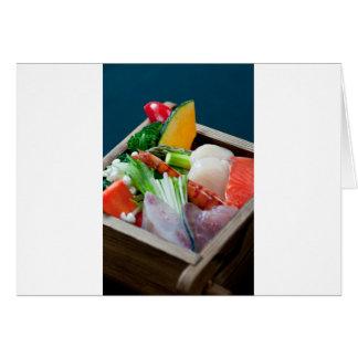 Sashimi in Japan, Japanese Cuisine Greeting Cards