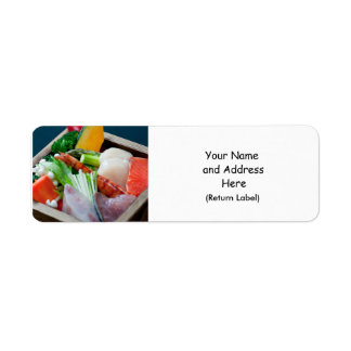 Sashimi in Japan, Japanese Cuisine Custom Return Address Label