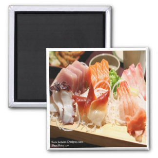Sashimi Mix Tray Art On Gifts Tees Mugs Etc Magnet