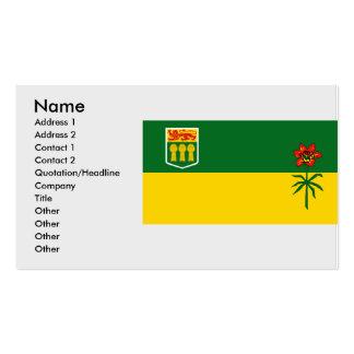 Saskatchewan, Canadá Tarjeta De Negocio