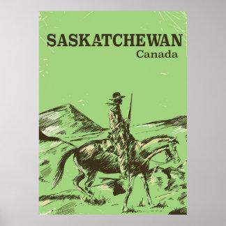 Saskatchewan Canada vintage travel poster