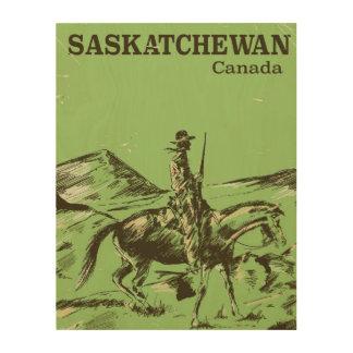 Saskatchewan Canada vintage travel poster Wood Wall Art