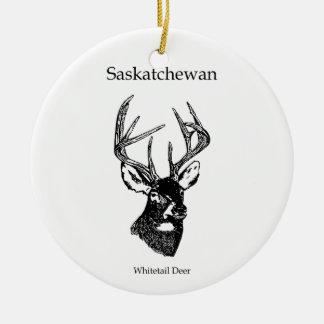 Saskatchewan Canada (white tailed deer) Ceramic Ornament