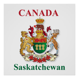 Saskatchewan coat of arms poster
