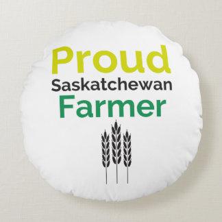Saskatchewan Farmer Round Pillow