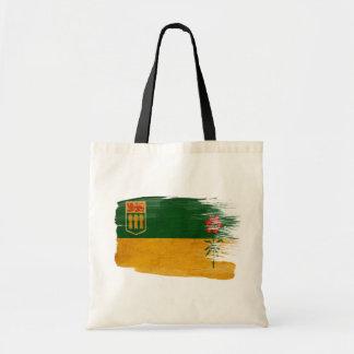Saskatchewan Flag Canvas Bags