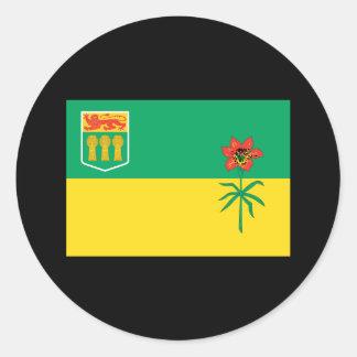 SASKATCHEWAN FLAG CLASSIC ROUND STICKER