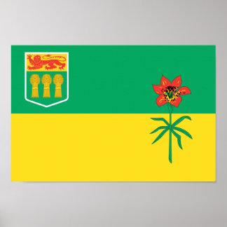 SASKATCHEWAN Flag Poster
