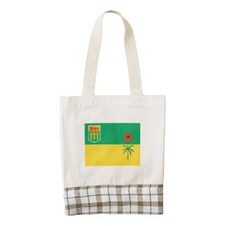SASKATCHEWAN Flag Zazzle HEART Tote Bag