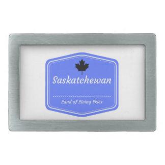 Saskatchewan - Land of living skys Rectangular Belt Buckle