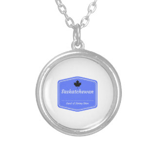 Saskatchewan - Land of living skys Silver Plated Necklace