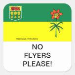 Saskatchewan No Flyers Please mail Box Sticker