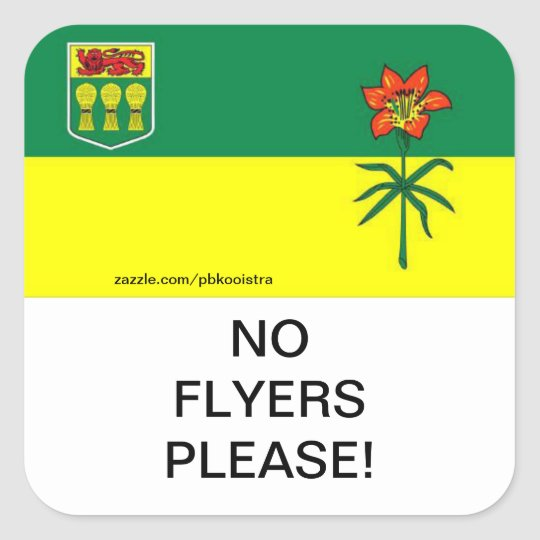 saskatchewan no flyers please mail box sticker zazzle com