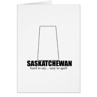 saskatchewan simple drawing, hard to say card