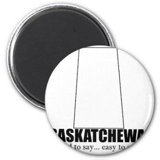 saskatchewan simple drawing, hard to say 2 inch round magnet