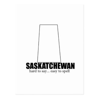 saskatchewan simple drawing, hard to say postcard