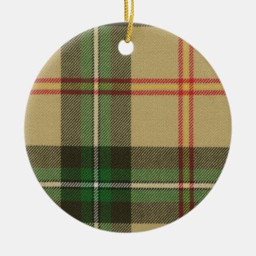 Saskatchewan Tartan Circle Ornament