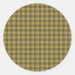 Saskatchewan tartan round sticker