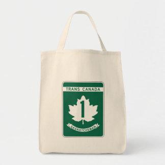 Saskatchewan, Trans-Canada Highway Sign Tote Bag