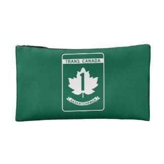 Saskatchewan, Trans-Canada Highway Sign Cosmetics Bags