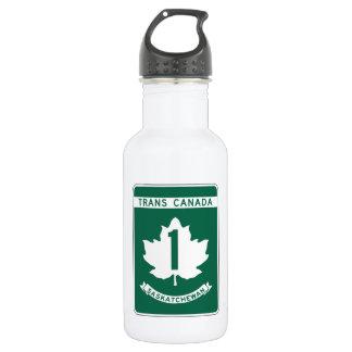 Saskatchewan, Trans-Canada Highway Sign 18oz Water Bottle