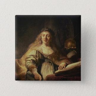 Saskia as Minerva Pinback Button