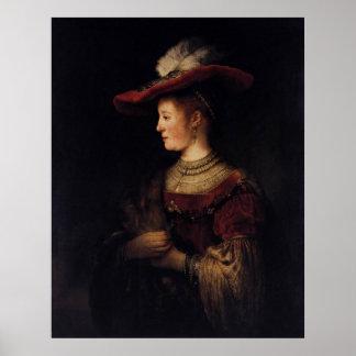 Saskia in a Pompous Dress Poster