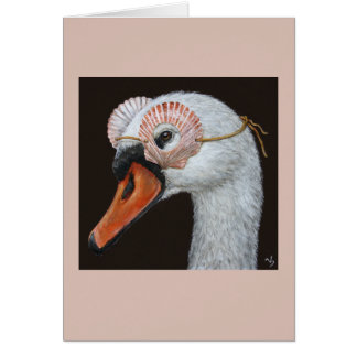 Saskia the swan card