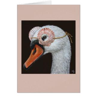 Saskia the swan card
