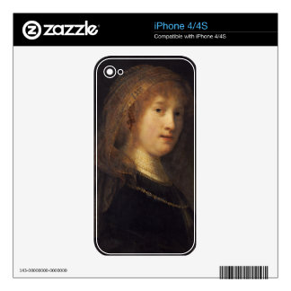 Saskia van Uylenburgh, c.1634-1640 (oil on panel) Skin For iPhone 4S