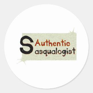 Sasqualogist auténtico etiqueta