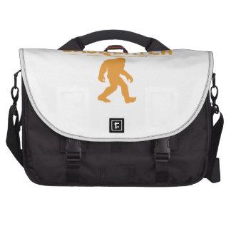 Sasquatch auténtico anaranjado bolsas para portátil