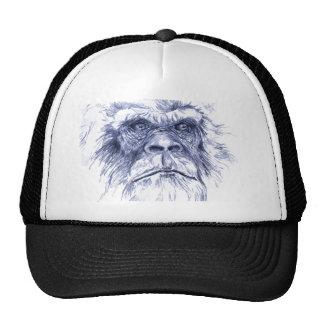Sasquatch azul grande gorras