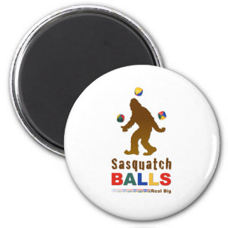 Sasquatch Balls 2 Inch Round Magnet