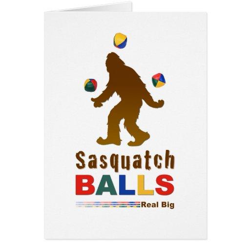Sasquatch Balls Card