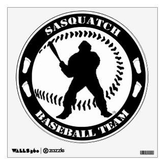 Sasquatch Baseball Team Large Sticker
