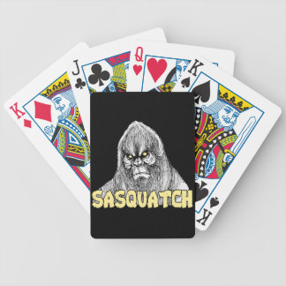 Sasquatch Bicycle Playing Cards