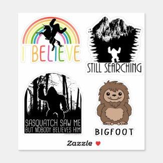 Sasquatch Bigfoot Believe Sticker Sheet - 6
